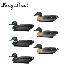 6pcs PE 3D Outdoor Hunting Duck Decoy Floating Lure W/ Keel For Hunting Fishing Accessories Garden Yard Pool Decors Ornaments hunt duck lovely simulation animal hunting decoy plastic duck garden ornaments sports entertainment