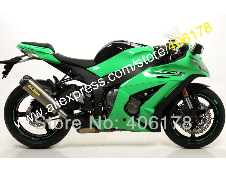 Hot Sales,Green Black For KAWASAKI Ninja ZX-10R ZX 10R 2011 2012 2013 2014 2015 ZX10R ZX-10R ABS Fairing Kit (Injection molding) abs fairing kit for kawasaki zx10r zx 10r 2006 2007 ninja green black line 07 06 fairing kit xl36