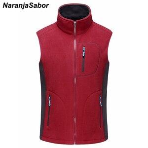 Image 3 - NaranjaSabor gilet chaud homme, vêtement décontracté sans manches en polaire, vêtements de marque