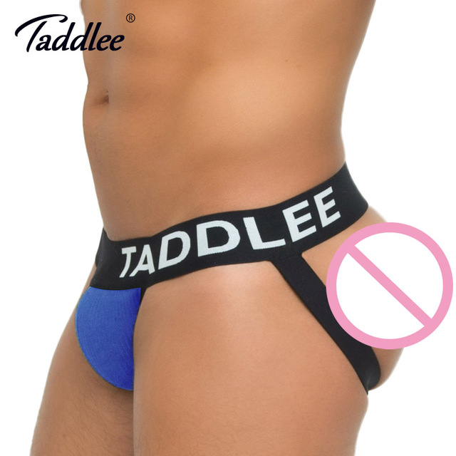 Taddlee Brand Sexy Mens Underwear Jock Straps Men Cotton Strings Thong Gay Stretch Jockstrap Brief Waistband Backless Buttocks