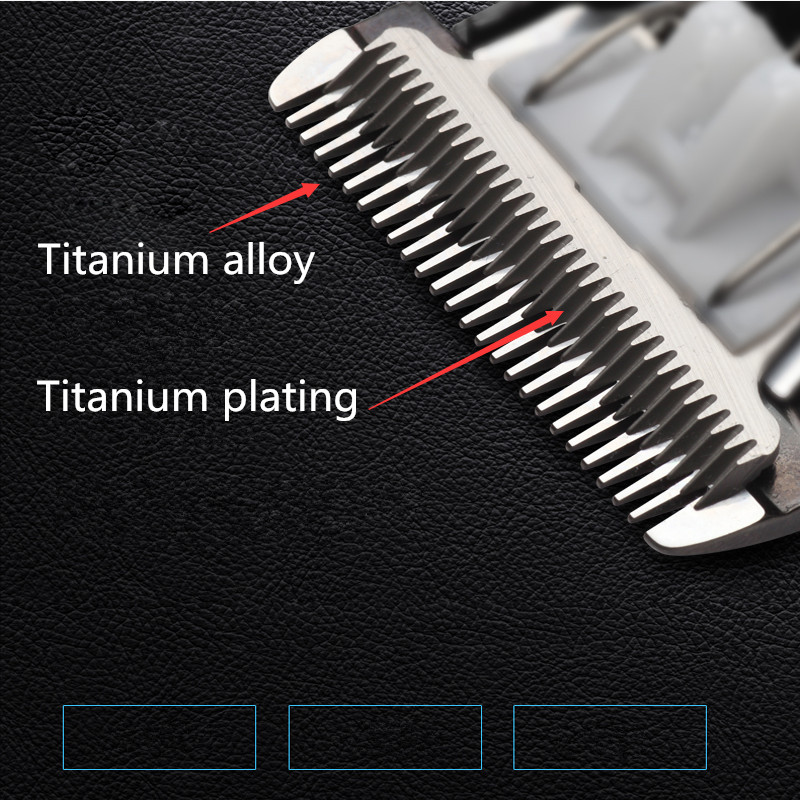 Image 3 - professional hair clipper rechargeable trimmer lithium battery Titanium alloy blade cutter adjustable comb Fine tuning 100 240V-in Hair Trimmers from Home Appliances