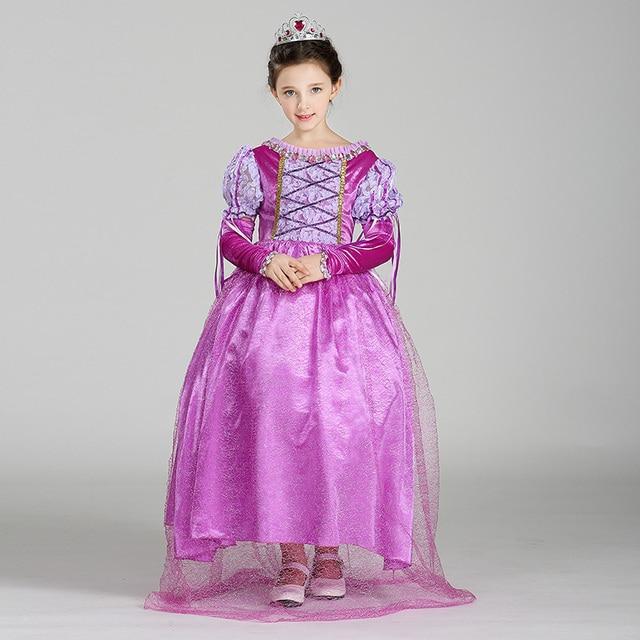 72fc000d60ec Retail Cosplay Dress Abbie Princess Kids Costume Clothing Rapunzel Princess  Costume Girls Dresses For Party SMR006
