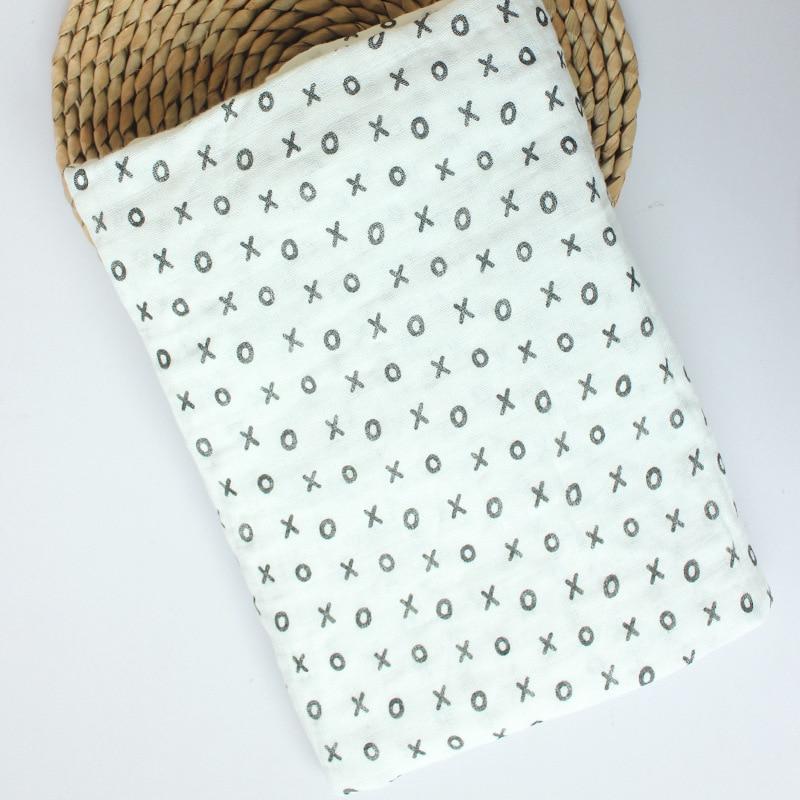 Купить с кэшбэком Muslin Swaddling Blankets Multifunctional Baby Blanket Receiving Blankets Baby Batch Towel 2 Layer Cotton Soft Newborn Envelope