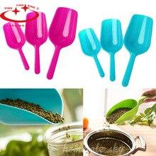 3Pcs / lot Plastic Kitchen Herb Powder Rice Spice Salt Sugar Flour Spoon Scoop Shovel