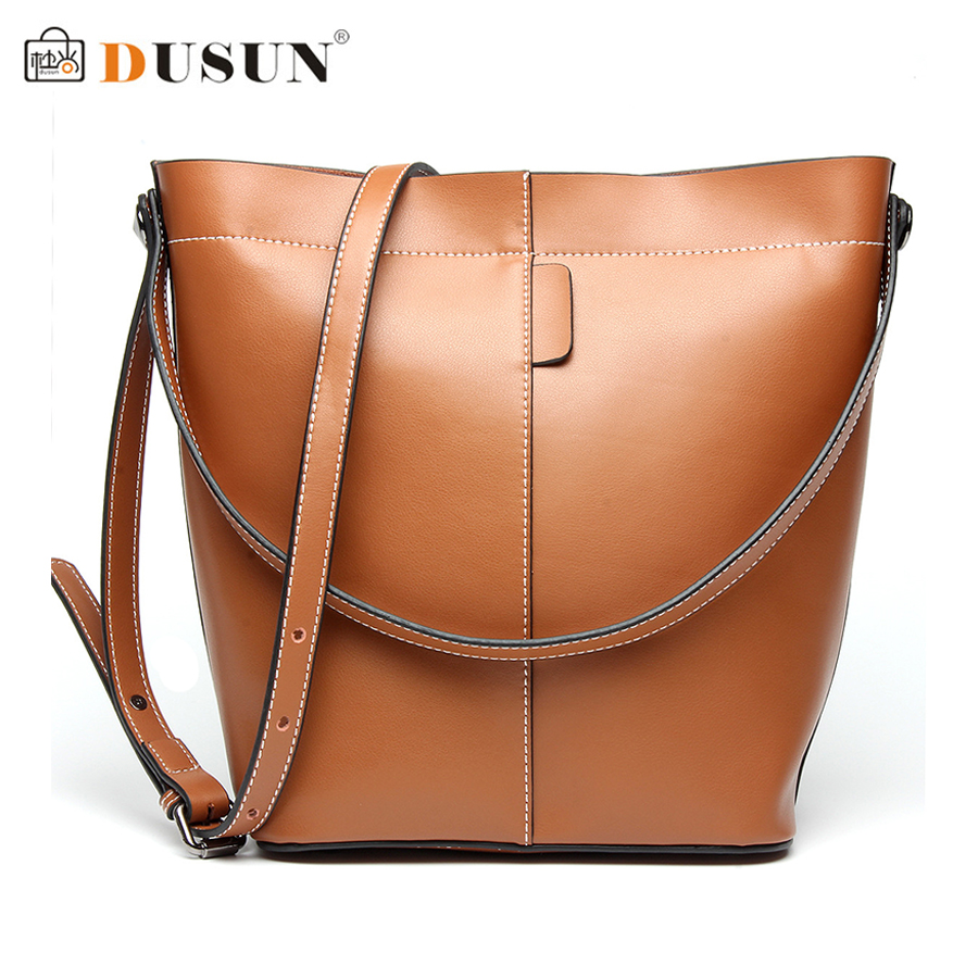 ФОТО DUSUN Brand Bucket Bag Women Bag Satchel Handbags Fashion Luxury Women 2016 New Retro Shoulder Bag High Capacity Messenger Bags