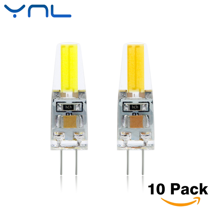 YNL 10pcs Lampada LED G4 Lamp AC/DC 12V 220V 6W High Quality COB lamparas LED Bulb G4 Chandelier Lamps Replace Halogen Lights ynl lampada led g4 lamp ac 220v 3w 4w 5w dc 12v g4 led bulb smd3014 2835 24 48 64 replace 10w 30w halogen spotlight chandelier