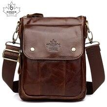 Mens Bag Genuine Leather Bag Handbag Shoulder Messenger Crossbody Leather Men Bags 2019 Male Flap Zipper Hasp Handbag ZZNICK