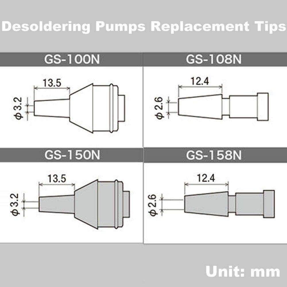 Original Japan GOOT GS Desoldering Pump Nozzle Replacement Tip of Solder Suckers GS-100 GS-104 GS-108 GS-150 GS-154 GS-158 Parts gs 4042a beerage cake