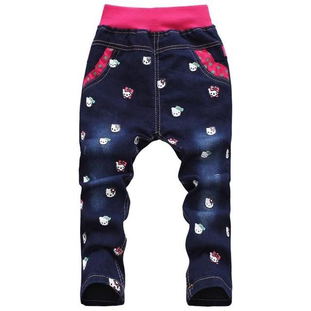 Frete grátis espessamento inverno coreano roupas de criança olá kitty meninas calças para crianças atacado e varejo 3-7Ys