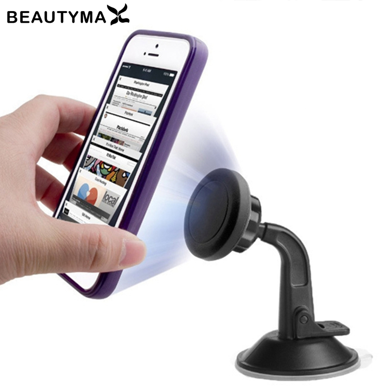 One-hand Operate Magnetic Car Holder Dashboard Windshield Car Phone Holder Magnet 360 Rotatable Car Holder Stand Mount Support
