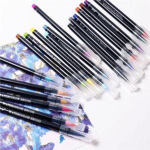 Image 2 - Novo 20 cores premium pintura caneta escova macia definir marcadores de aquarela caneta efeito melhor para colorir livros manga caligrafia comic