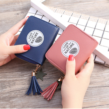 Small Women Wallet Purses Tassel Fashion Coin Purse Card Holder Wallets Female High Quality Clutch Money Bag PU Leather Wallet new fashion women wallet crocodile pattern high quality purse for female coin purses money card holders ladies buckle purses y3