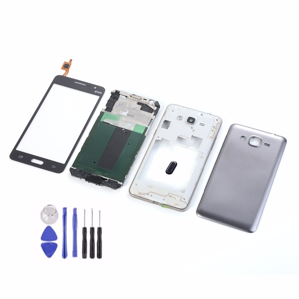 For Samsung Galaxy Grand Prime G531 G531H G531F LCD Touch Screen+Housing Front Frame Middle Frame+Battery Back Cover+Home Button