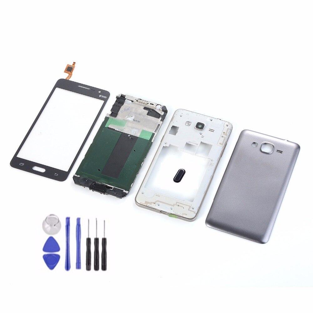Pour Samsung Galaxy Grand Prime G531 G531H G531F écran tactile LCD + boîtier cadre avant cadre central + couvercle arrière de la batterie + bouton d'accueil
