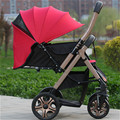 Малолитражного автомобиля детская коляска 4 бегун амортизаторы двусторонний бб автомобиль свет складной коляски