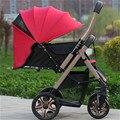 Absorvedores de choque de carro do bebê carrinho de bebê 4runner 4 two-way carrinho de bb luz do carro de dobramento