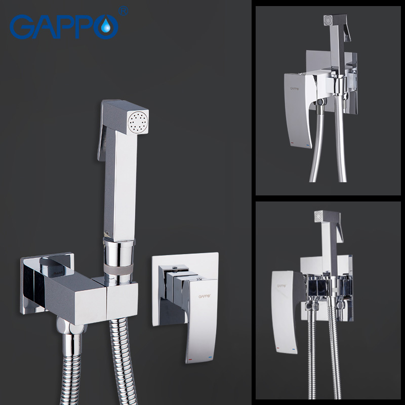 Gappo Bathroom bidet shower set Showe faucet toilet bidet muslim Brass wall mount washer tap mixer