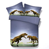 Fighting Angry Dinosaur Bedding Sets Queen Full King Single Size 3d Animals Print Duvet Cover 3