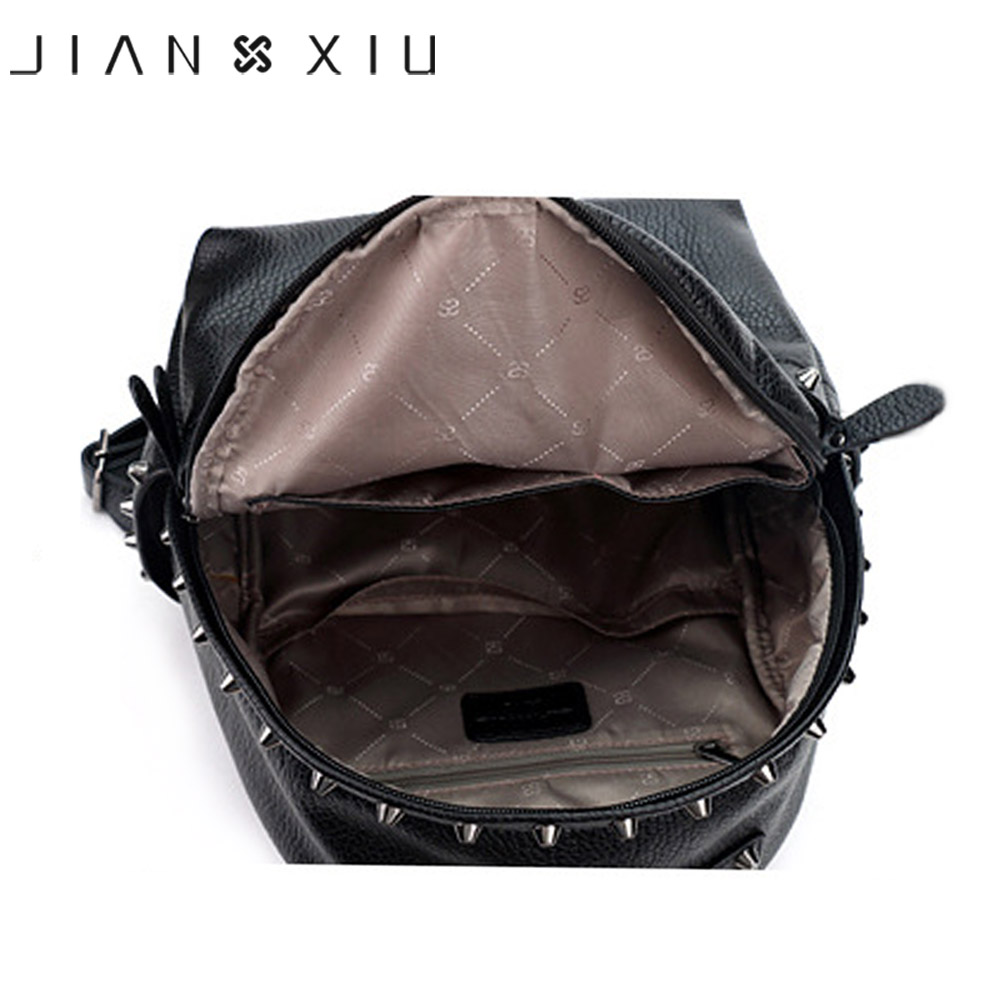Jianxiu Brand Women Backpack Pu Leather School Bags Mochilas Mochila Feminina Bolsas Mujer Backpacks Rugzak Back Pack Bag 2018 #5