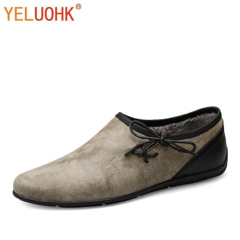 Winter Shoes Men Vintage Men Shoes Winter High Quality Plush Winter Men Shoes Casual winter men
