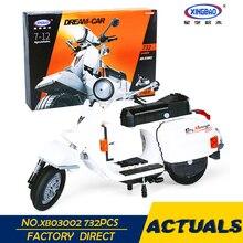 XingBao 03002 Блок 732Pcs Подлинная Creative Technic Классическая серия Vespa P200 Moto Building Blocks Кирпичи Toy Model DIY Gift