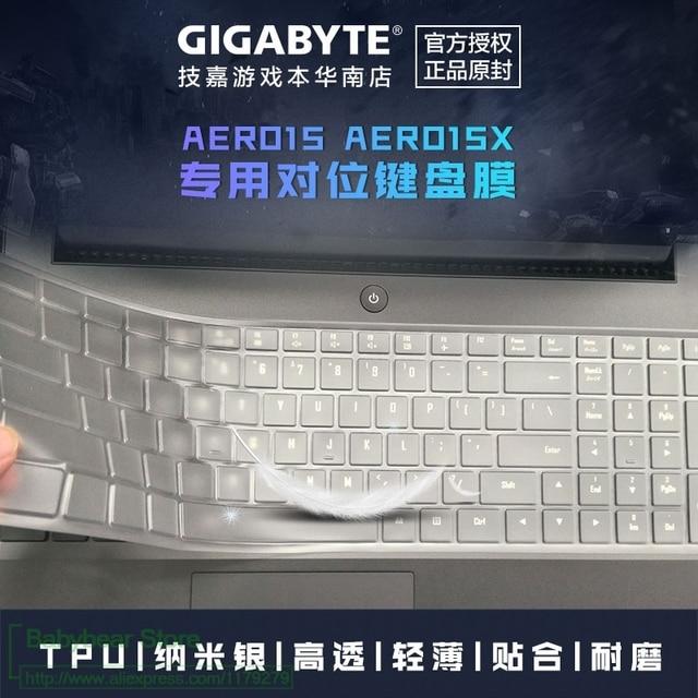 """Siêu Mỏng tpu máy tính xách tay bàn phím cover protector Cho Gigabyte Aero 15 15X v8 v8-BK4/Aero 15 wát 15W-BK4 15.6 """"i5 i7 GTX 1060"""
