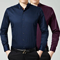 Men's casual long-sleeved cotton shirt high quality fashion clothing Asian sizedo509