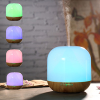 300ml Aroma Diffuser Bamboo Grain Diffuser LED Light Auto Stop Air Purifier Mist Maker Aromatherapy