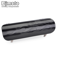 BJMOTO Motorcycle Exhaust Muffler Protector Heat Shield Cover Guard Anti-scalding Cover For Harley Yamaha Kawasaki