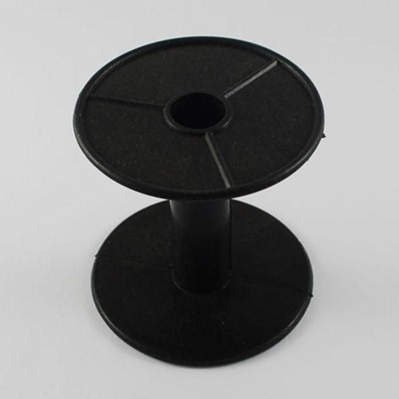 10pcs-lot-16x56mm-Plastic-Black-Wheel-Empty-Wire-Bobbins-Round-End-Spools-for-Beading-Cord-String