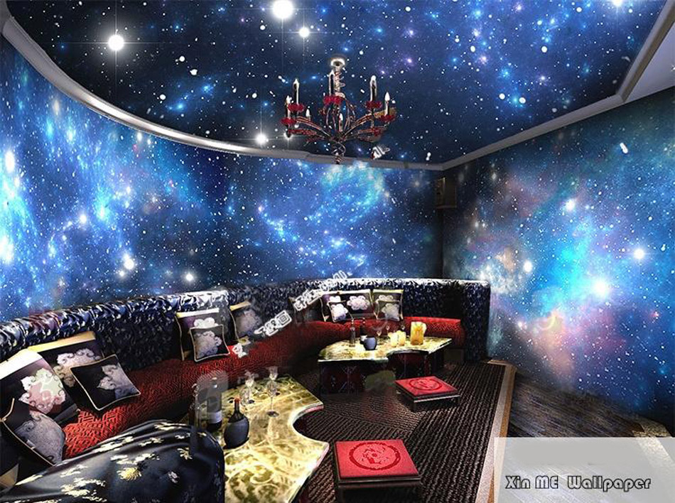 Aliexpress.com : Buy Large Starry Night Sky Star Space 3D Wallpaper Mural  Rolls Prints On Embossed Wall Paper Livingroom Wall Cover Household Decor  From ... Part 41