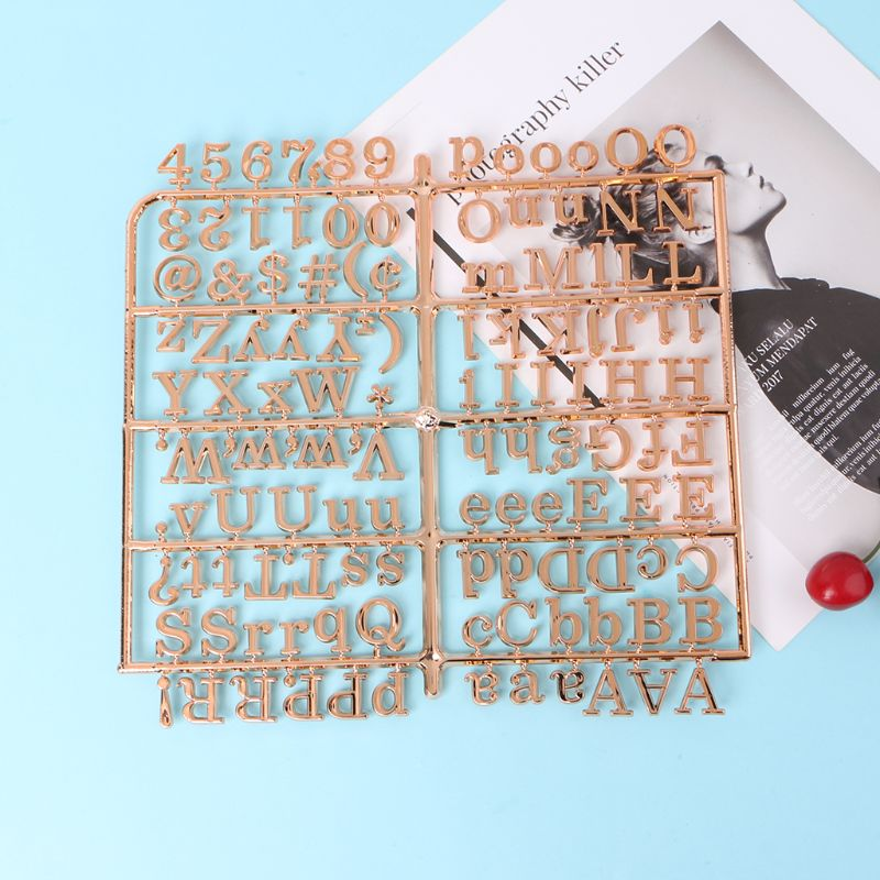 Letter-Board Rose-Gold-Characters Felt for 250piece-Numbers Changeable