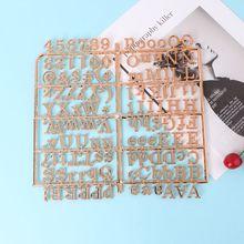 Розовое золото, персонажи для войлочной доски с буквами, 250 шт., цифры со сменными буквами