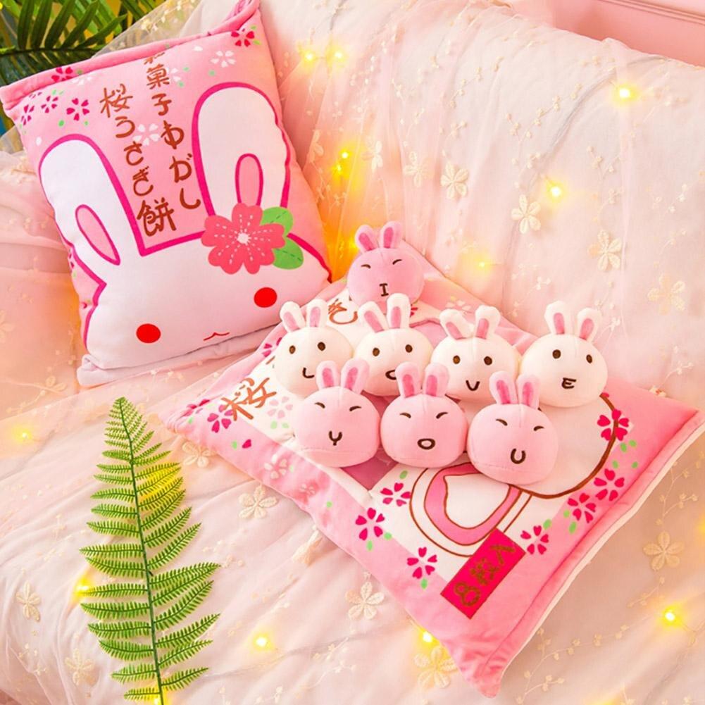 Bolsa grande de pollo pudín grande almohada conejo muñeca pp algodón suave cojín simulación innovador aperitivos