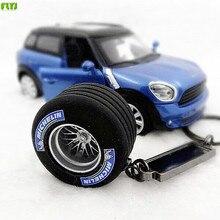 FLYJ  car automobile tyre key ring opona pneumatyczna Key chain auto tire turbo key ring Car Styling For audi bmw e46 TRD sline