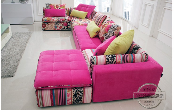 u best color tissu sofa sectionnel ensemble mode salon section canap moderne canapjpg - Canape Colore