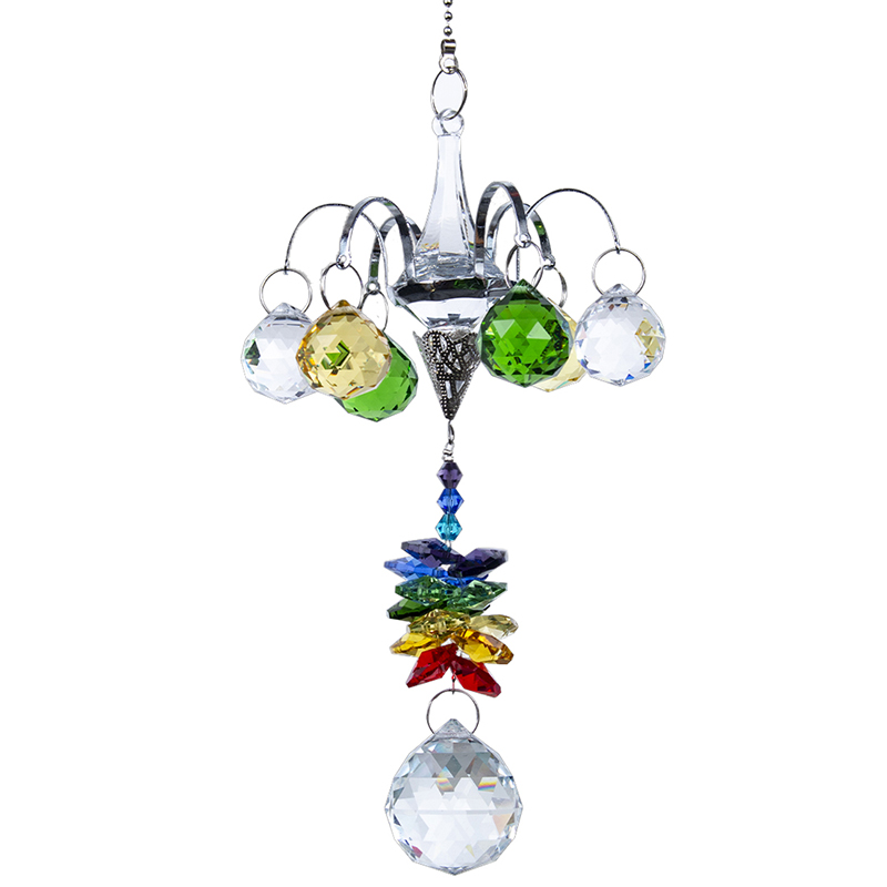 Rainbow Octagon Bead Crystal Chakra Dream Suncatcher Hanging Ornament Gift