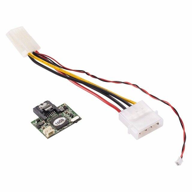 Zheino sataii 3 gb/s 7 pines 16 gb mlc dom disk on module industrial con cable de alimentación para máquinas de punto de venta