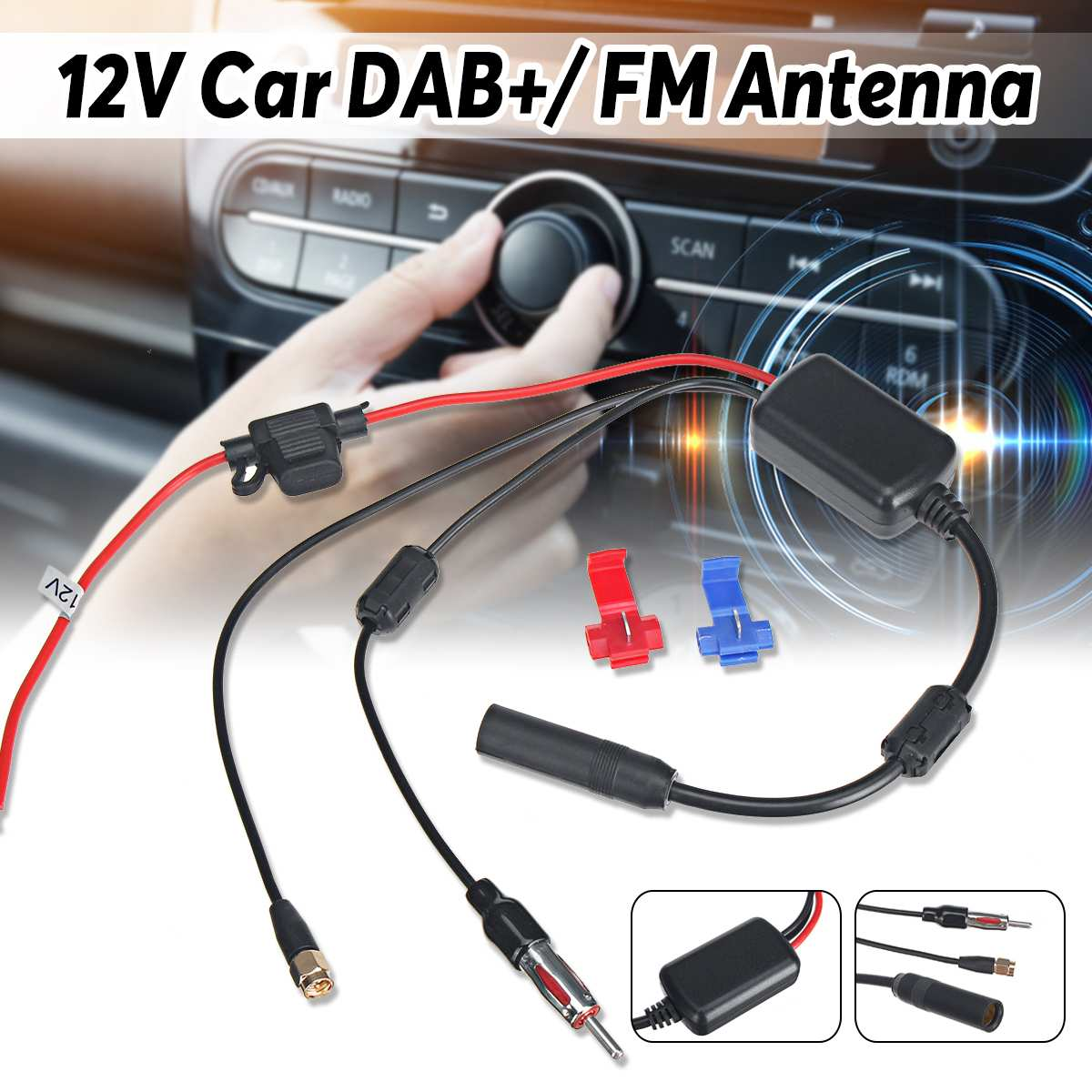 SAAB 9-3//9-5 Car Stereo Radio Fakra Booster Amplified Aerial Antenna Adaptor