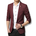 Hombre de los trajes Casual hombres Blazers nuevo 2016 Plaid adapte a 2 colores caliente venta más el tamaño 3XL moda diseñadores hombres abrigos abrigos de primavera