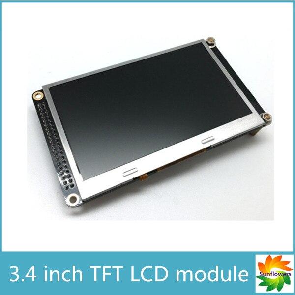 Livraison gratuite 4.3 pouces TFT LCD module d'affichage pour carte de développement FPGA 480 (RGB) * 272 TFT moniteur avec 10 led