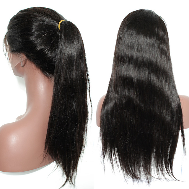 "14-24"" Straight Human Hair Wig"
