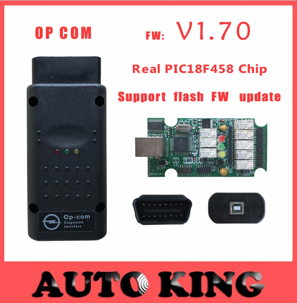 2017 Best with PIC18F458 chip ! opcom opel diagnostic interface scanner can obd2 for opel V1.70 op com opel can bus interface