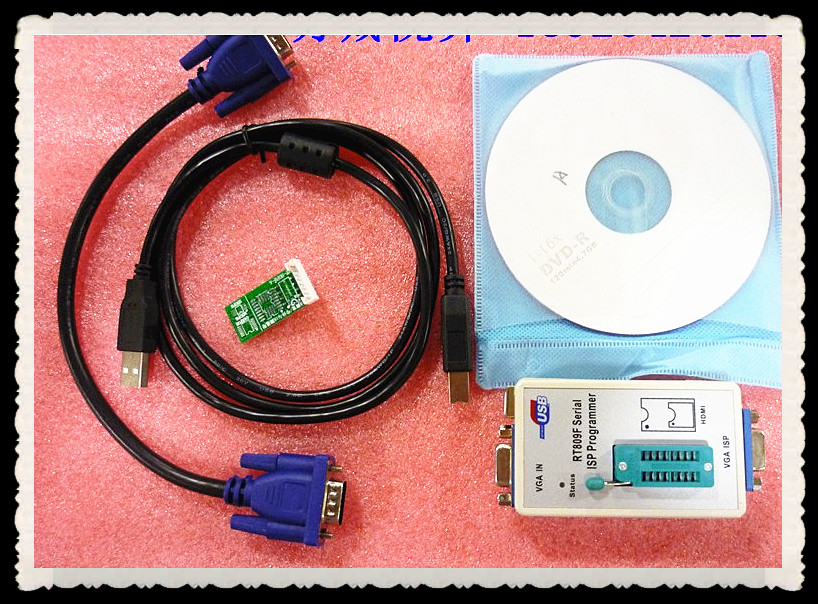 Free Shipping RT809F Serial ISP/ VGA LCD USB Programmer+Repair Tools 24-25-93 serise IC RTD2120 Better then EP1130B