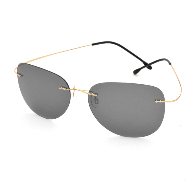 8922fe26cb Clearance Sale Item Titanium Alloy Rimless Polarized Sunglasses Ultralight  Super Light Men Mirror Designer Sun Glass Silhouett