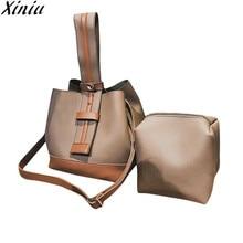XINIU 2 шт. модная сумка женский комплект сумочки женская кожаная сумка на плечо сумка-мессенджер на молнии Сумка-тоут горячая Распродажа bolsas feminina