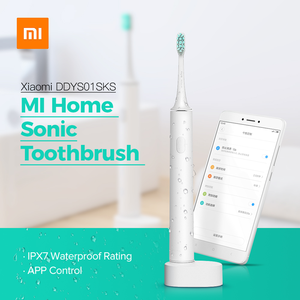 Xiaomi Mi Home Waterproof Electric Toothbrush Rechargeable Sonic travel Electric Tooth Brush Oral Hygiene APP Control For home
