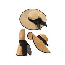 Floppy Wide Brim Bowknot Foldable Hats RK