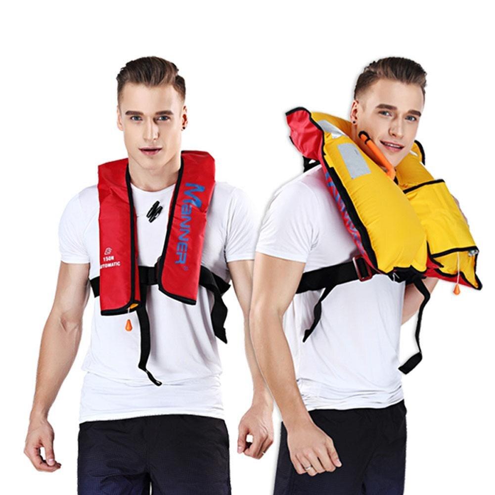 Adulte Automatique Manuel VFI Gonflables Vie Veste Gilet de Sauvetage Survie De Natation Nautisme Pêche 150N Flottabilité 33lbs