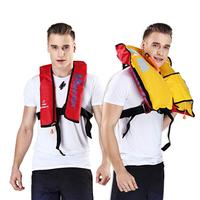 Adult Automatic Manual Inflatable PFD Life Jacket Life Vest Survival Swimming Boating Fishing 150N Buoyancy 33lbs